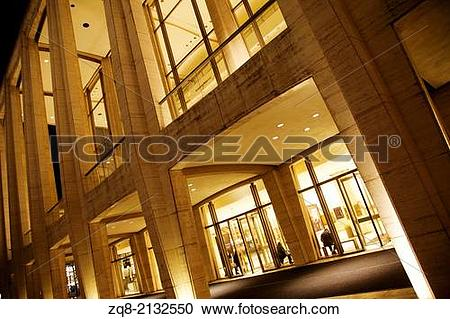 Stock Photography of Metropolitan Opera House at Lincoln Center.