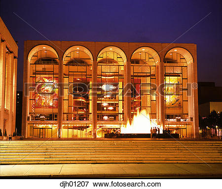 Picture of Lincoln Center, Metropolitan Opera House, New York City.