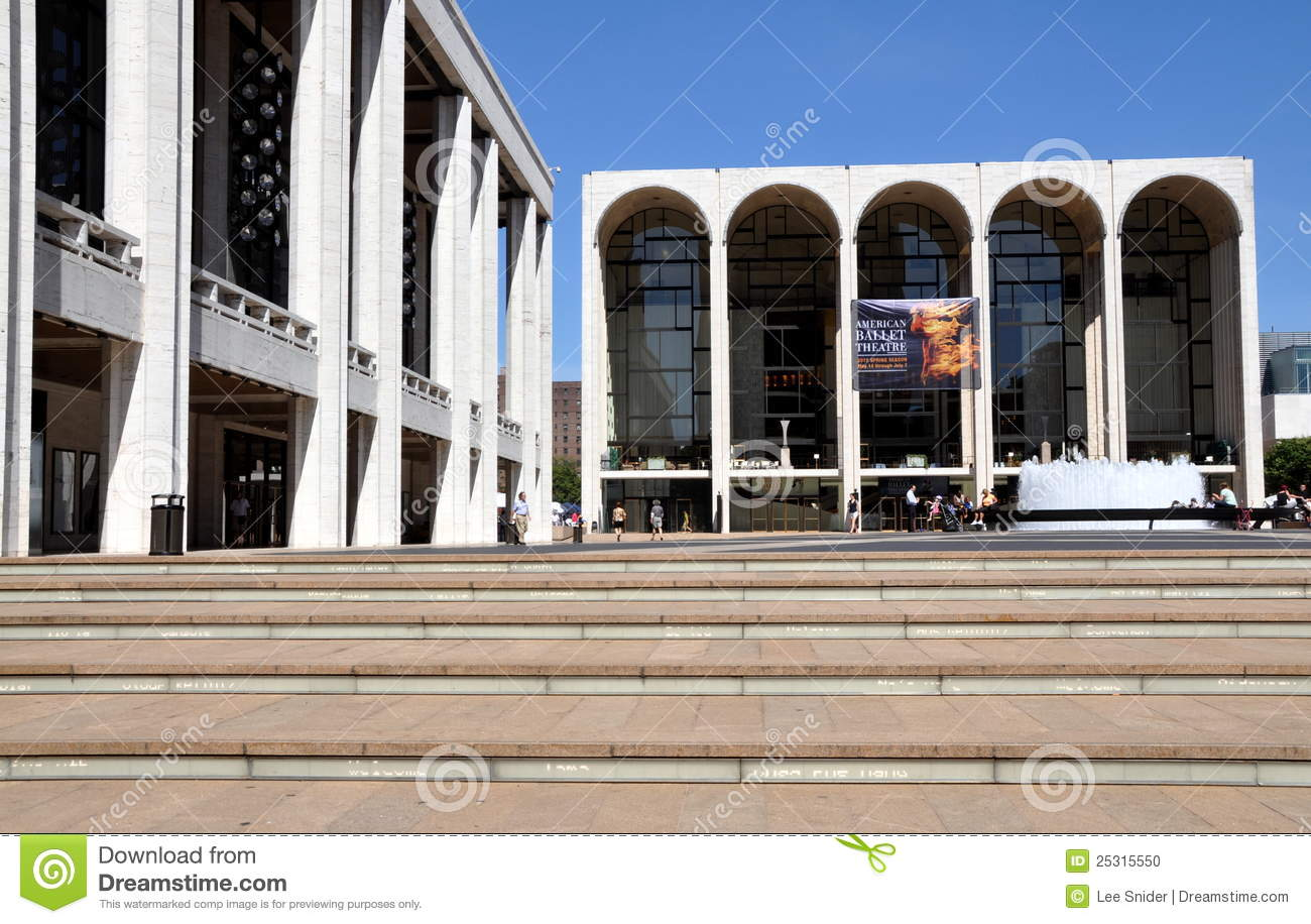 NYC: Met Opera House At Lincoln Center Editorial Image.