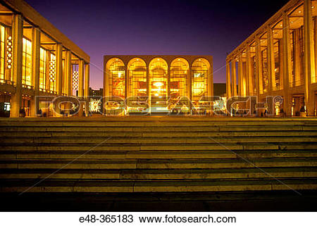 Stock Photo of Metropolitan Opera House, Lincoln center. New York.