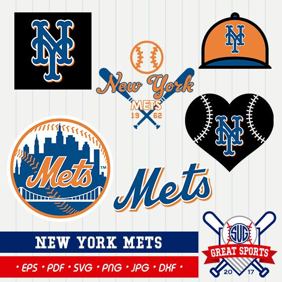 New York Mets SVG, Mets Beisball Clipart, New York Mets DXF.