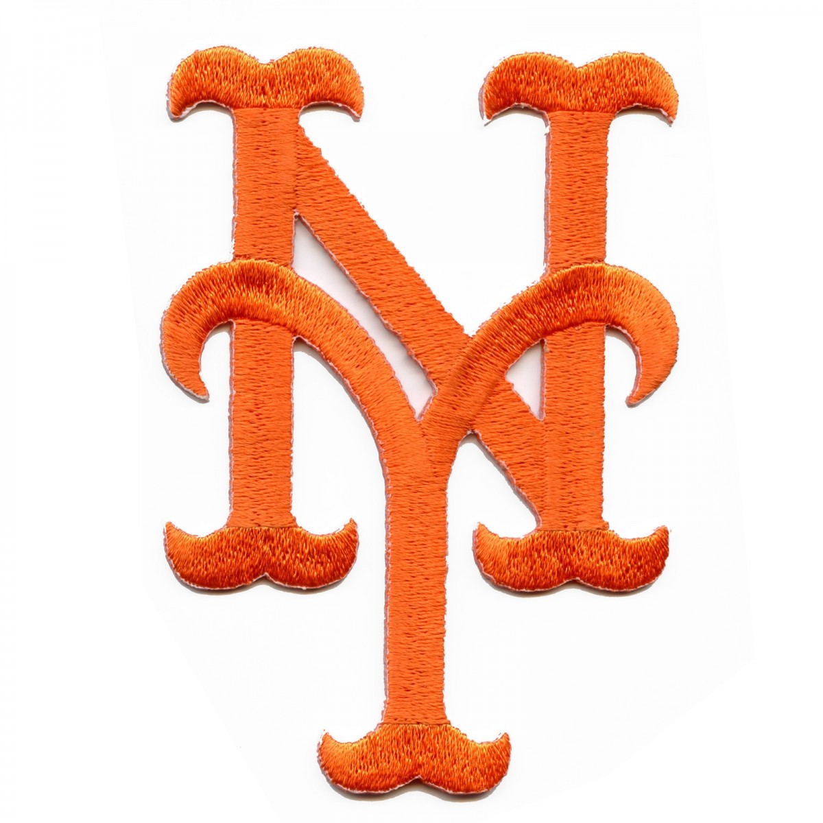 New York Mets Hat Logo Iron On Embroidered Patch.