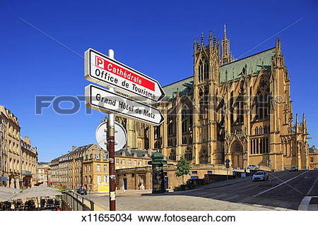 Stock Photo of Metz, France, Cathedral, old town x11655034.