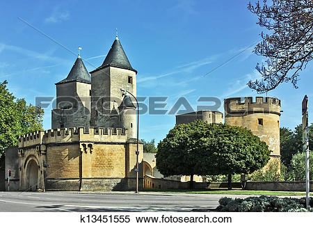 Stock Image of Metz, france k13451555.