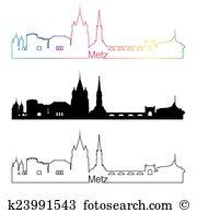 Metz skyline Clip Art and Illustration. 5 metz skyline clipart.