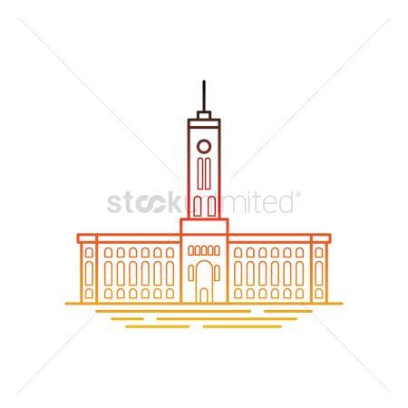 Free Rotes Rathaus Stock Vectors.