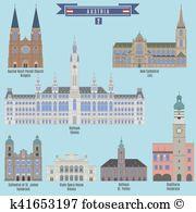 Rathaus Clipart Vector Graphics. 42 rathaus EPS clip art vector.