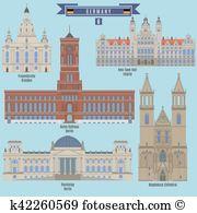 Rotes rathaus Clip Art and Illustration. 8 rotes rathaus clipart.