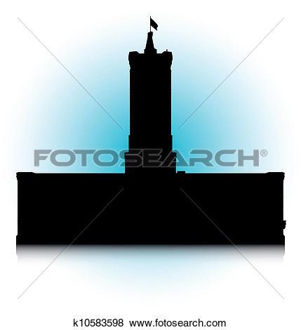 Clip Art of Rotes Rathaus k10583598.