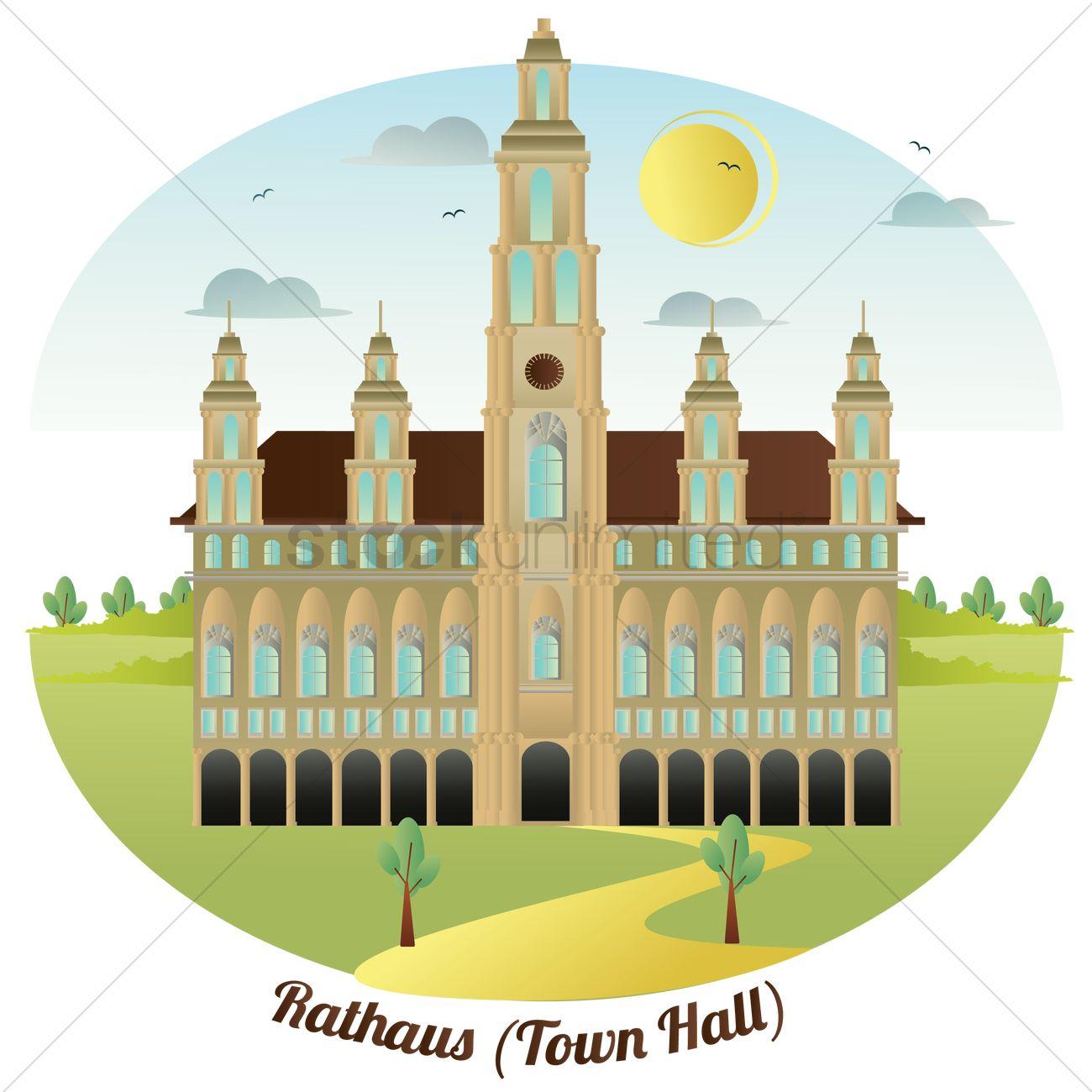 Rathaus Vector Image.