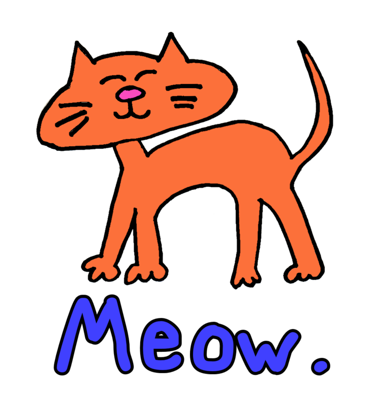 Gallery For > Cat Meowing Clipart.
