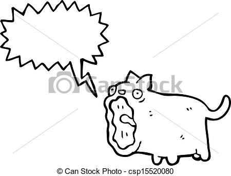 Vector of meowing cat cartoon csp15520080.
