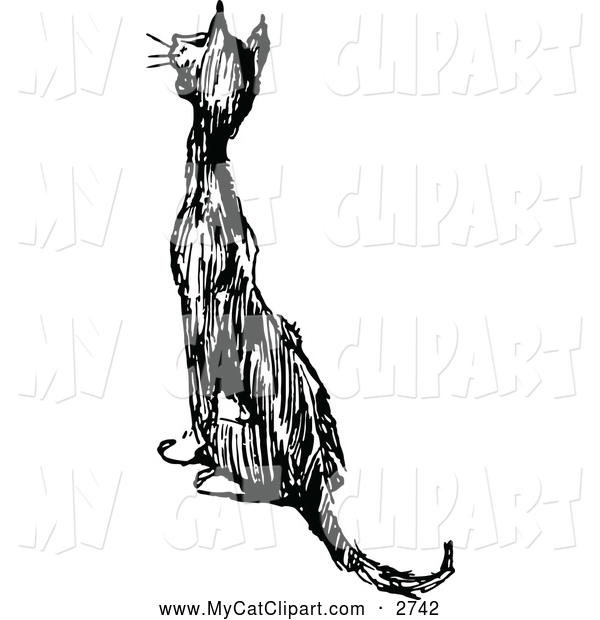 Clip Art Cat Meowing Clipart.
