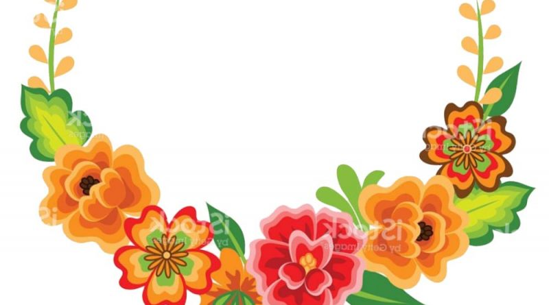Mexican Flowers Clipart.
