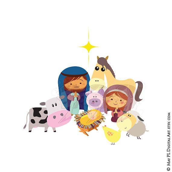 Christmas Nativity Stable Scene Baby Jesus Christ Birth Manger.