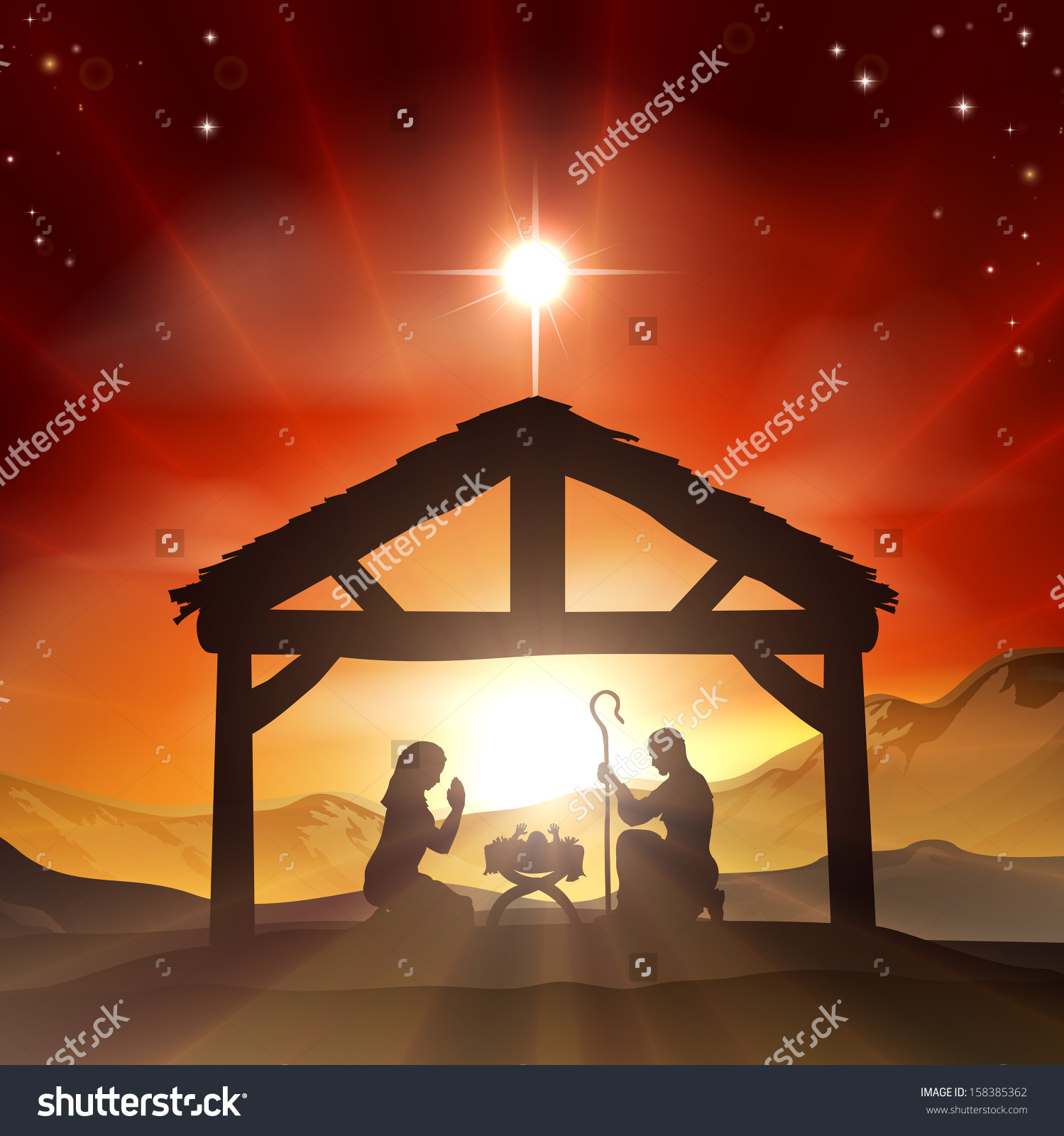 Mexican Baby Jesus In A Manger Clipart Clipground