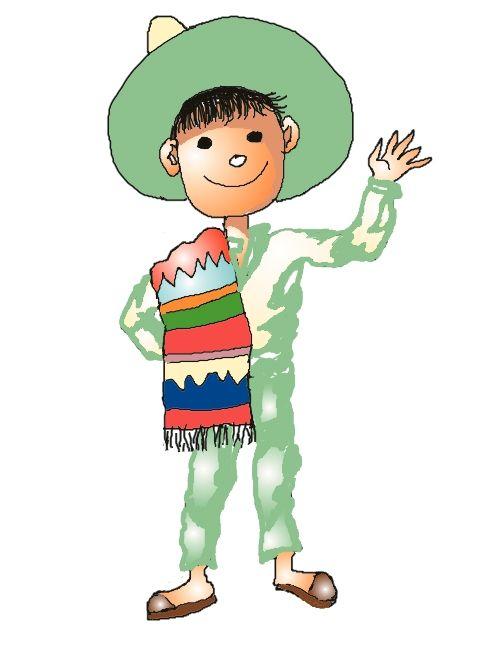 Mexican Boy. Free clip art..