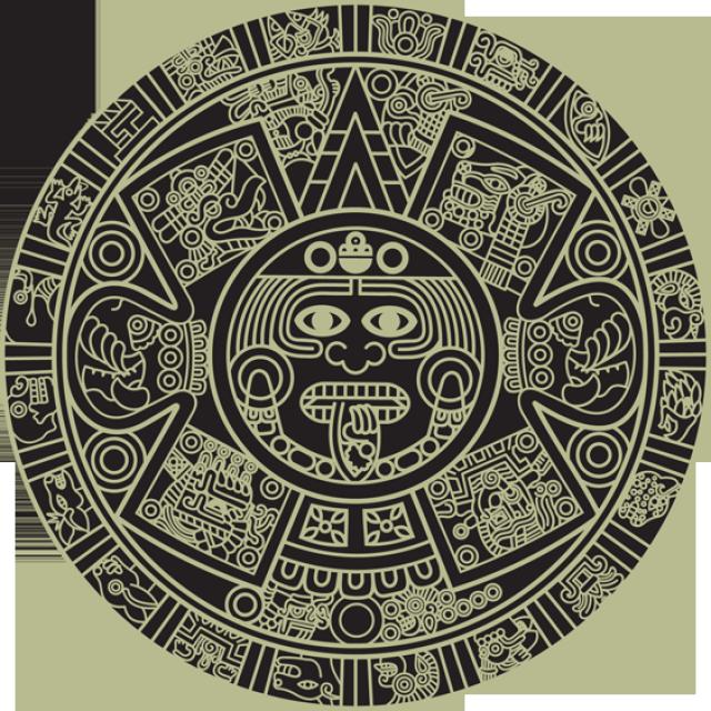 Aztec Calendar Clipart.