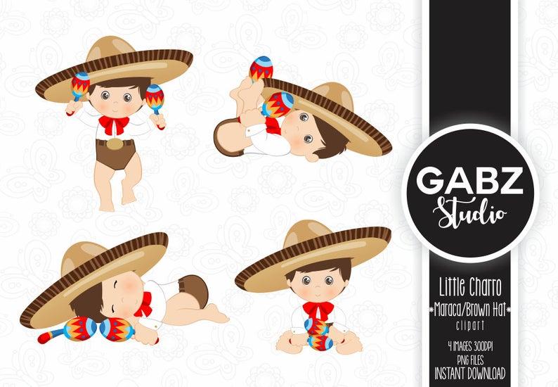 Little Charro, Maraca, Mexican Folklore, Clipart, Aztec, Decorative, Baby  Shower, Mexican, Fiesta, Gabz.