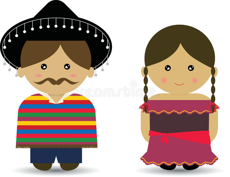 Mexican Girl Stock Illustrations.