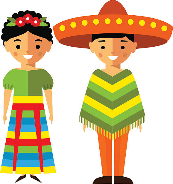 Best Mexican Family Illustrations, Royalty.