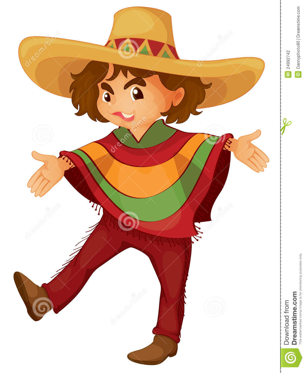 Mexican boy stock vector. Illustration of play, isolated.