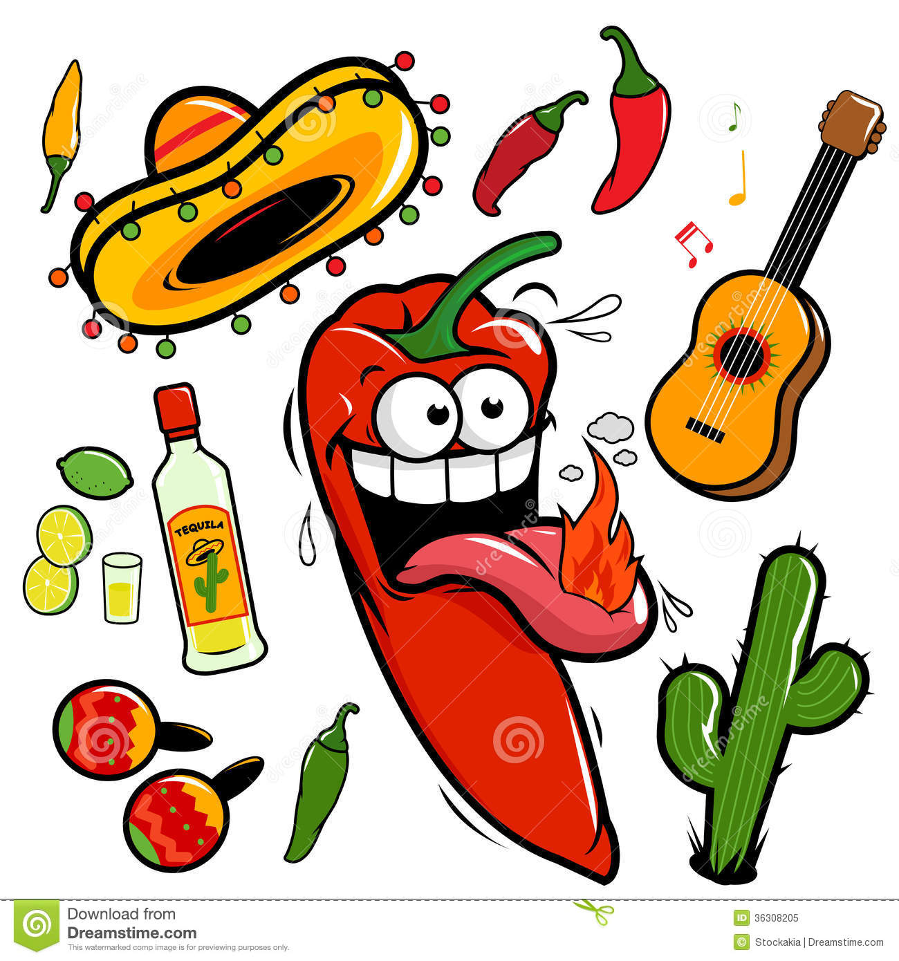 Mexican Chili Pepper Clipart.