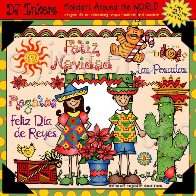 Christmas In Mexico Clipart.