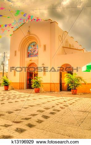 Stock Photograph of An Old Mexican Church k13196929.