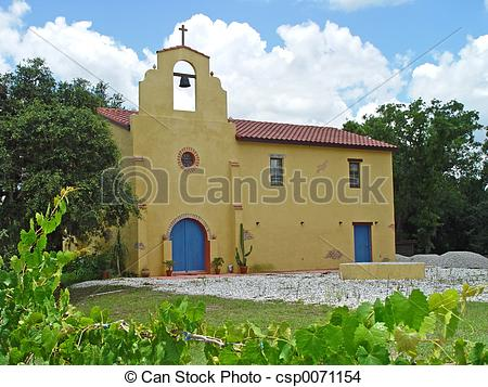 Stock Photo of Old Mission Church.