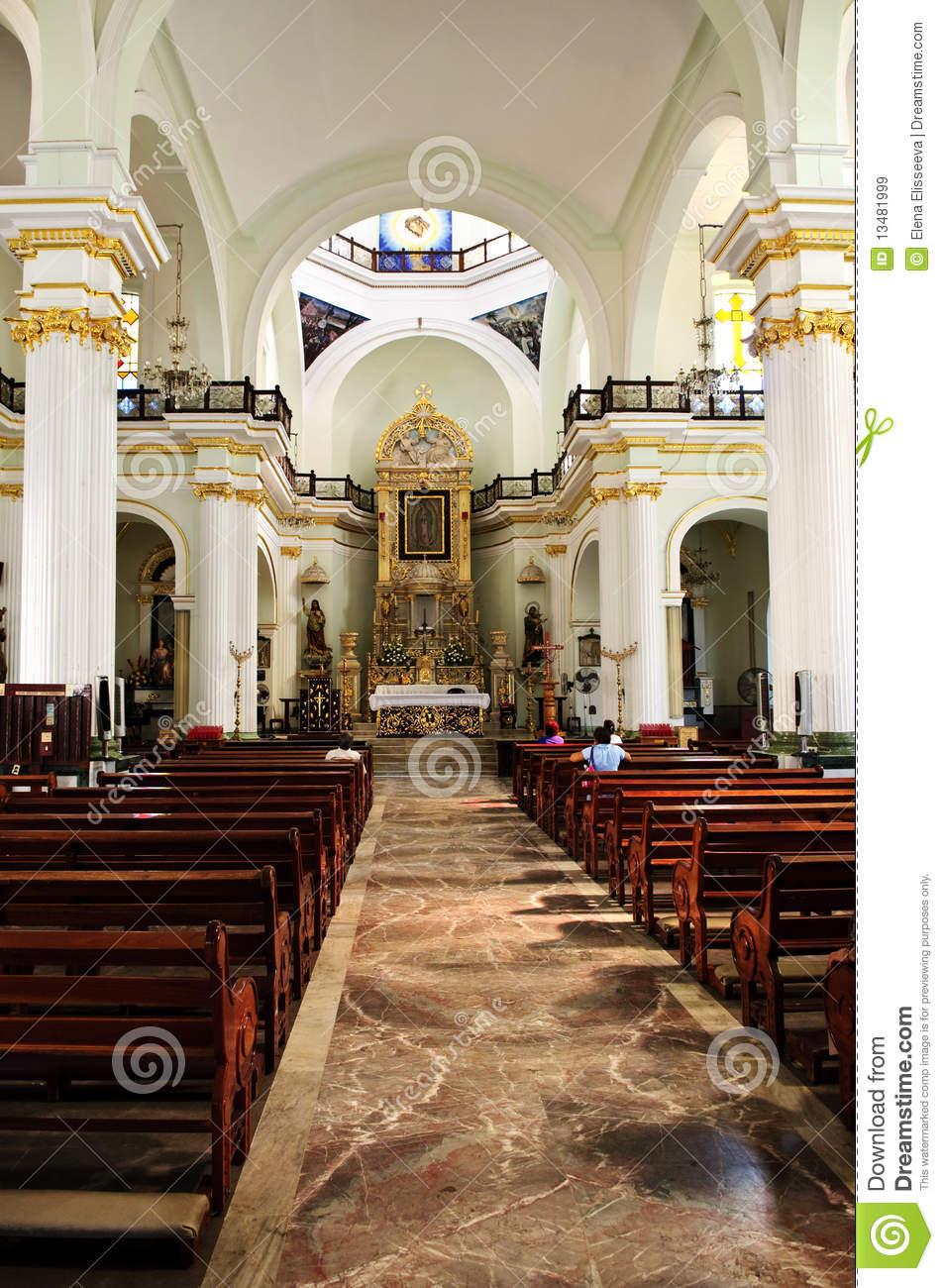 Church Interior In Puerto Vallarta, Mexico Royalty Free Stock.