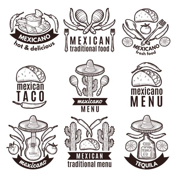 Best Mexico Black And White Illustrations, Royalty.