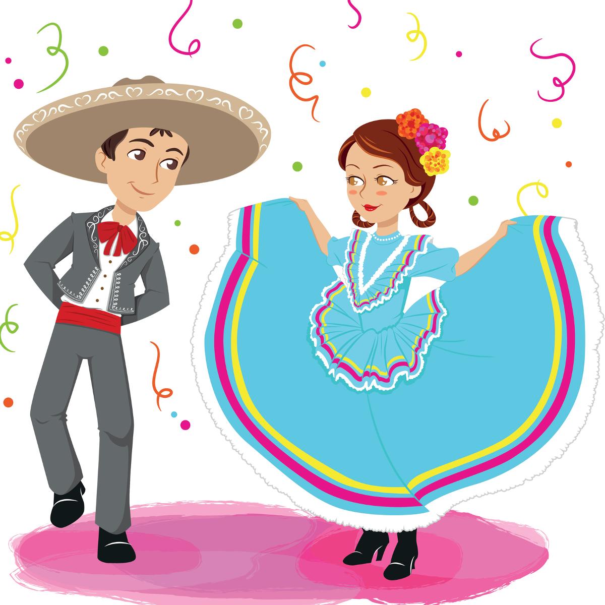 Mexican Folk Dance Clipart.