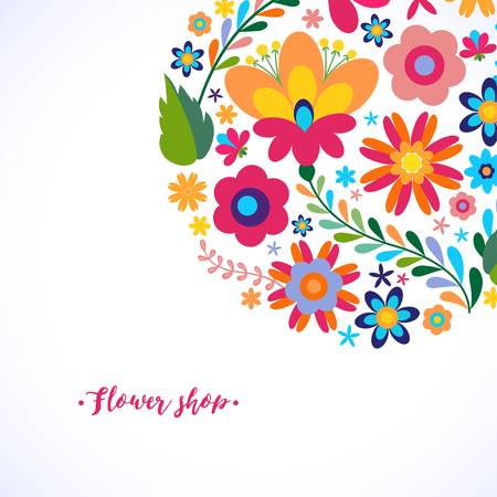 Mexican Flowers Clipart Border.