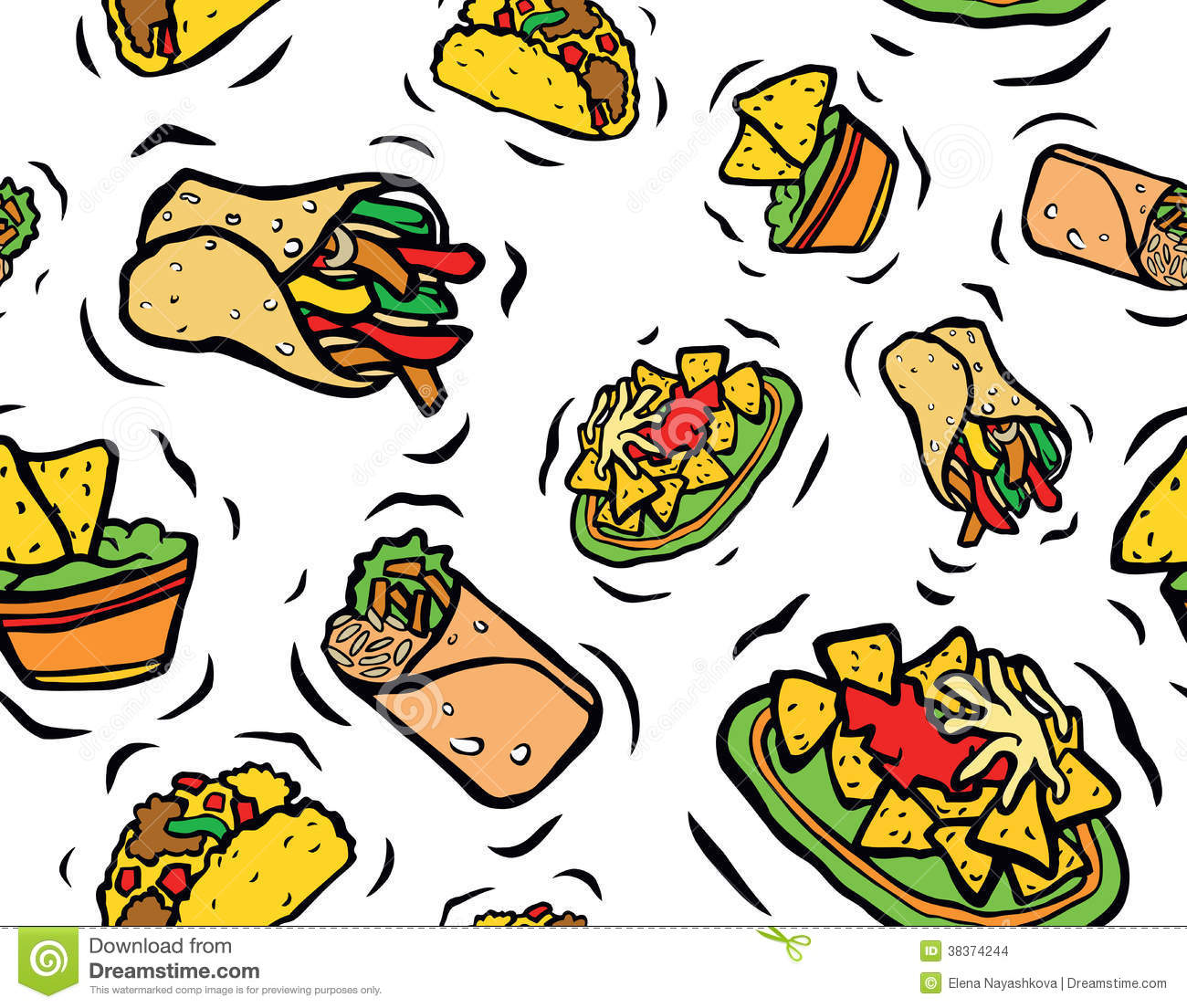 Mexican Food Clipart Cartoons.
