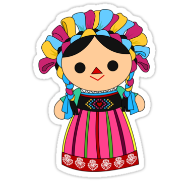 Maria 3 (Mexican Doll)' Sticker by alapapaju.