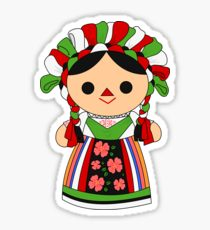 Mexican Doll Stickers.