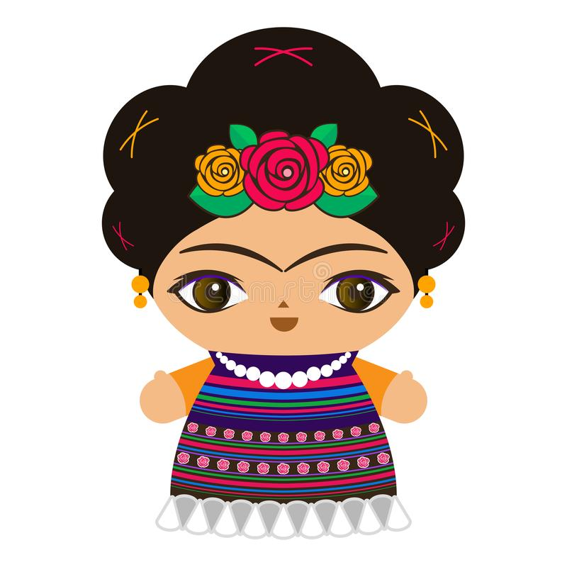 Mexican Doll Stock Illustrations.