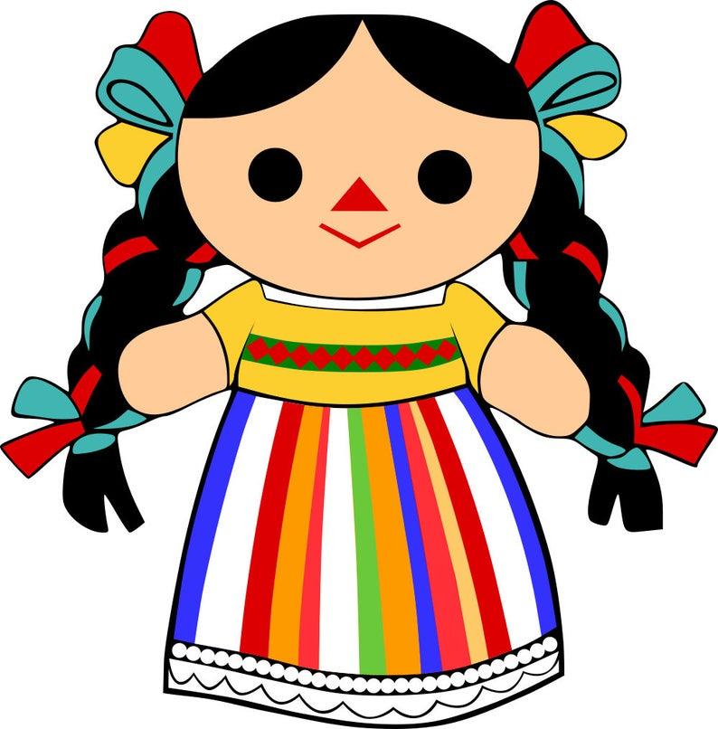 Mexican Maria Rag Doll SVG File.