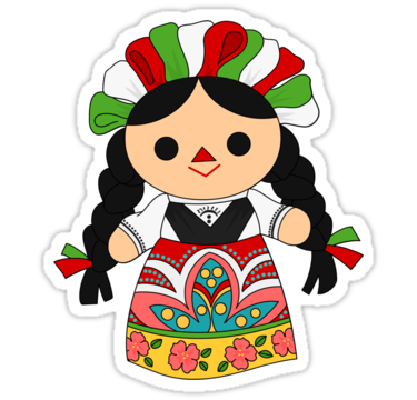 Maria 1 (Mexican Doll)' Sticker by alapapaju.