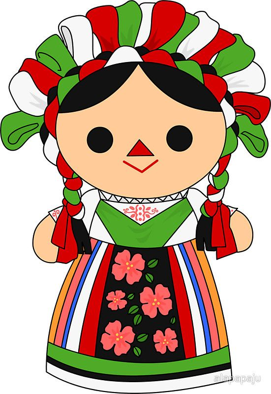 Pegatina 'Maria 5 (Mexican Doll)' de alapapaju.
