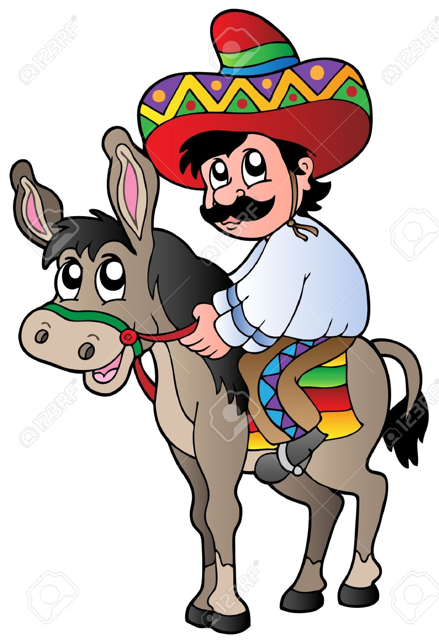 Mexican riding donkey.