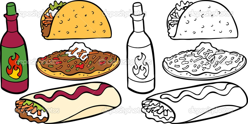 Mexican Food Clipart Images Black And White.