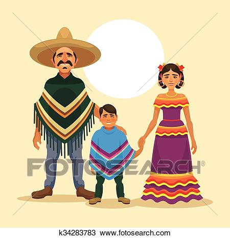 Mexican family Clipart.
