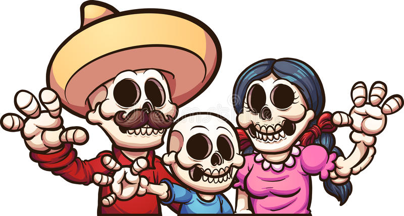 Mexican Family Stock Illustrations.