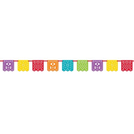Papel Picado Mexican Fiesta Banner, 13ft.