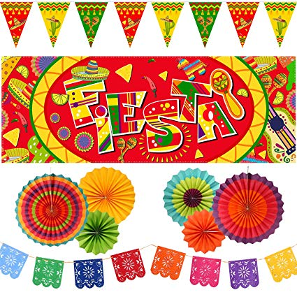 Amazon.com: 10 Pieces Mexican Party Decoration Set, Mexico.
