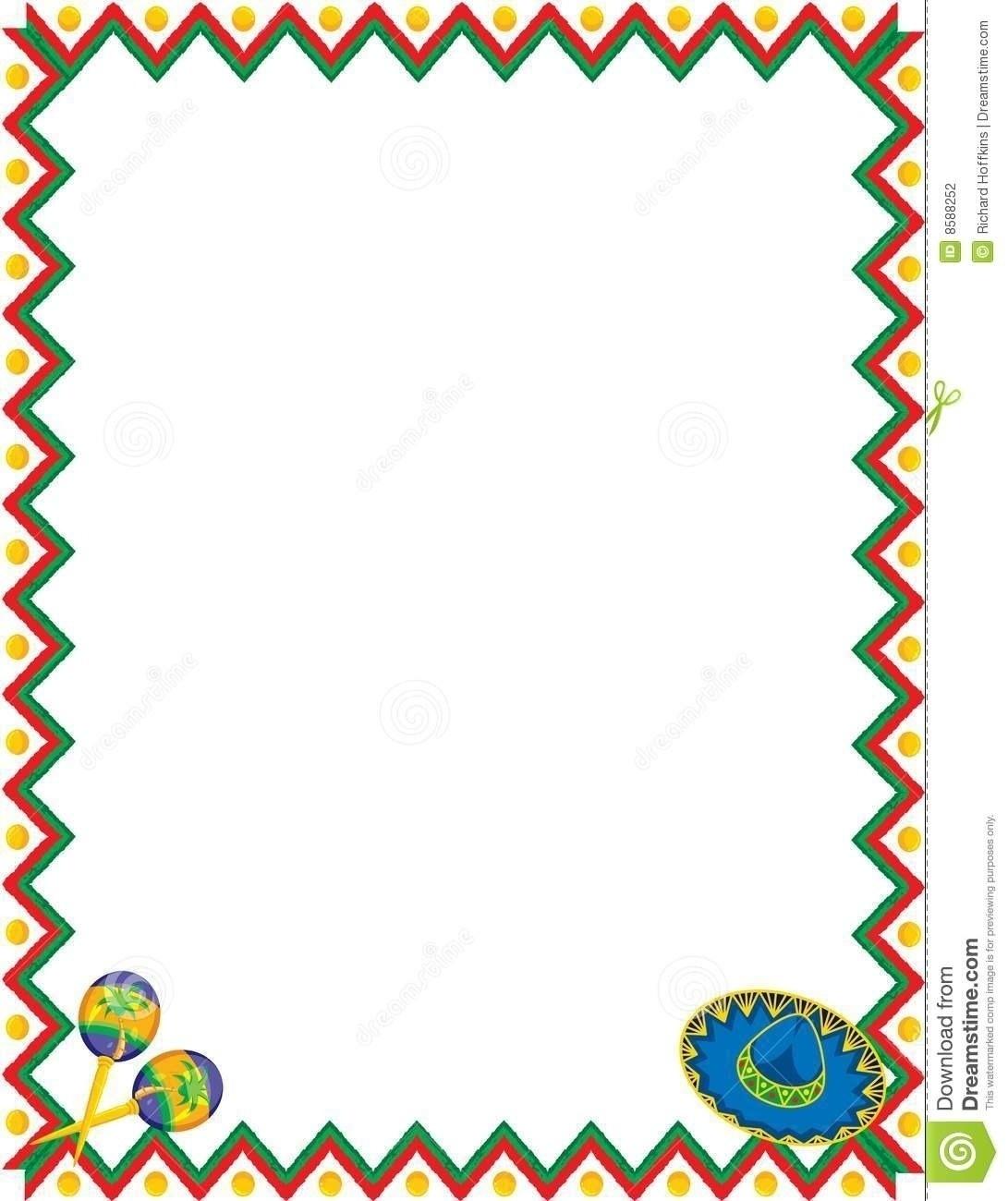 Mexican Menu Border Design.