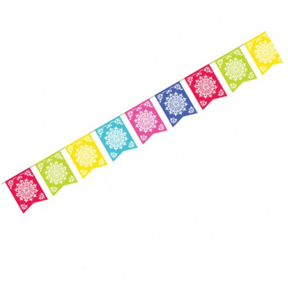 Mexican Fiesta Banner Clip Art free image.