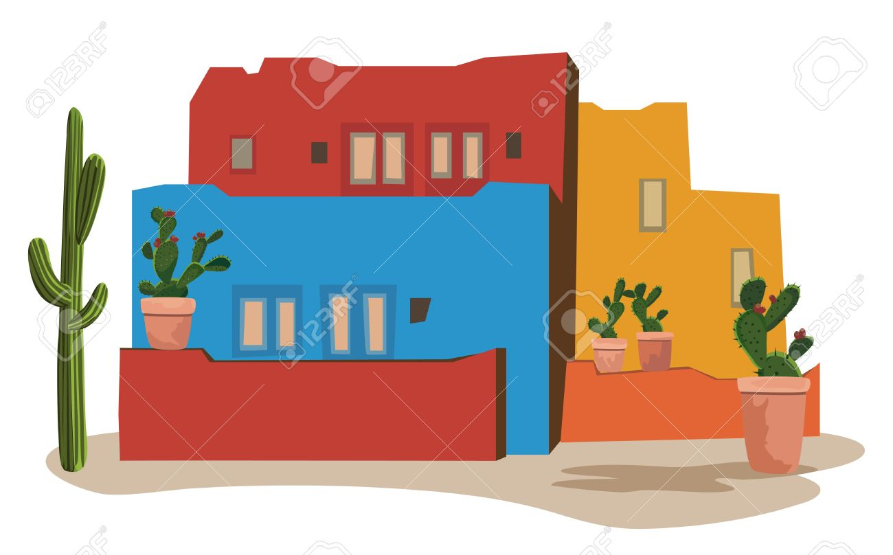Clipart mexican house.